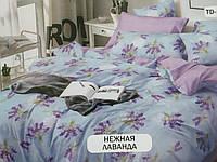 Комплект постельного белья с принтом в светлых тонах  НЕЖНАЯ ЛАВАНДА  .100% хлопок.