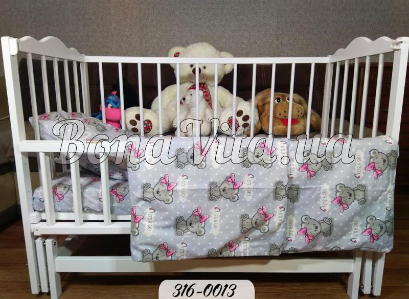 Дитяче постільна білизна в ліжечко бязь Bona Vita