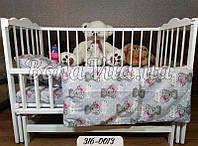 Дитяче постільна білизна в ліжечко бязь Bona Vita, фото 1