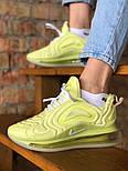 Женские кроссовки Nike Air Max 720 желтые. Живое фото. Реплика, фото 2