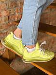 Женские кроссовки Nike Air Max 720 желтые. Живое фото. Реплика, фото 3