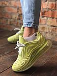 Женские кроссовки Nike Air Max 720 желтые. Живое фото. Реплика, фото 4
