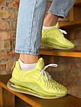 Женские кроссовки Nike Air Max 720 желтые. Живое фото. Реплика, фото 5
