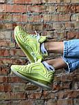 Женские кроссовки Nike Air Max 720 желтые. Живое фото. Реплика, фото 6