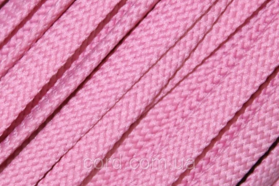 Шнур плоский чехол 8мм (100м) розовый