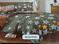 Комплект постельного белья с принтом в светлых тонах .100% хлопок.