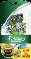Wilkinson Sword Xtreme3 Sensitive Einwegrasierer - Одноразовые мужские станки для бритья 6 шт.