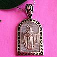 Серебряный кулон Покрова Богородицы - Ладанка серебряная с эмалью Покрова, фото 5