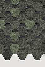 Битумная черепица Docke Pie Basic шестигранник зеленый