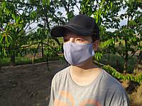 Маска питта на резинке женская, защитная многоразовая,медицинская маска, двухслойная хлопковая маска, голубая