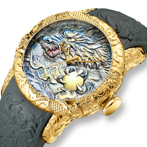 Megalith 8041M Gray-Gold Dragon