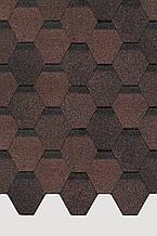 Битумная черепица Docke Pie Basic шестигранник коричневый