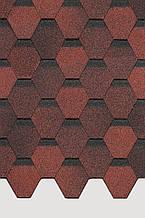 Битумная черепица Docke Pie Basic шестигранник красный