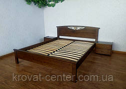 """Кровать двуспальная с прикроватными тумбами """"Фантазия"""" (лесной орех), фото 2"""