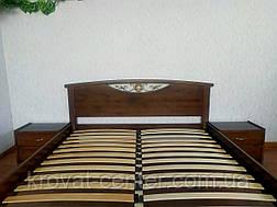 """Кровать двуспальная с прикроватными тумбами """"Фантазия"""" (лесной орех), фото 3"""