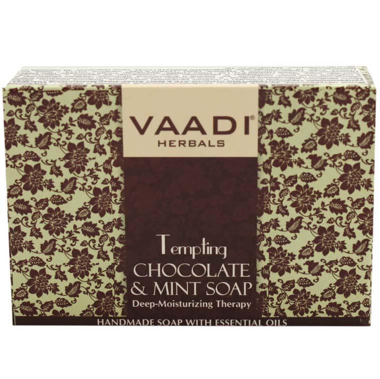 Мило ручної роботи Vaadi Спокусливий шоколад і м'ята 75 г