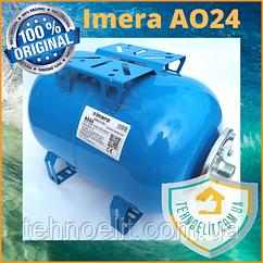Гидроаккумулятор 24л для насосной станции горизонтальный Imera AO24 Италия