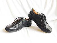 Туфли женские кожаные черные мягкие удобные Clarks (Размер 39, UK6 ½D)