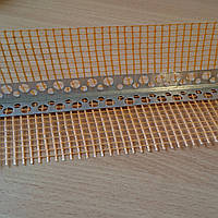 Уголок алюминиевый перфорированный с сеткой 7*7 см 3 м