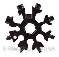Универсальный ключ Снежинка (черный) Multitool Snowflake Tool гаечный (и не только) с доставкой (TI)