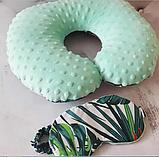 Дорожная подушка и маска для сна., фото 5