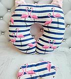 Дорожная подушка и маска для сна., фото 7