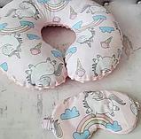 Дорожная подушка и маска для сна., фото 8