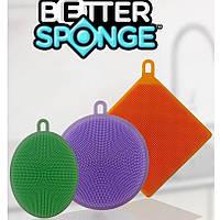 Набор универсальных силиконовых щеток-губок Better Sponge