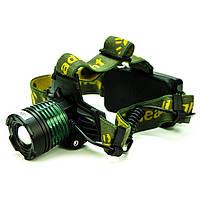 Налобный аккумуляторный фонарь Bailong-2188-T6, фото 1