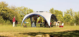 Шатер Coleman Event Shelter 4,5 х 4,5 м, серый
