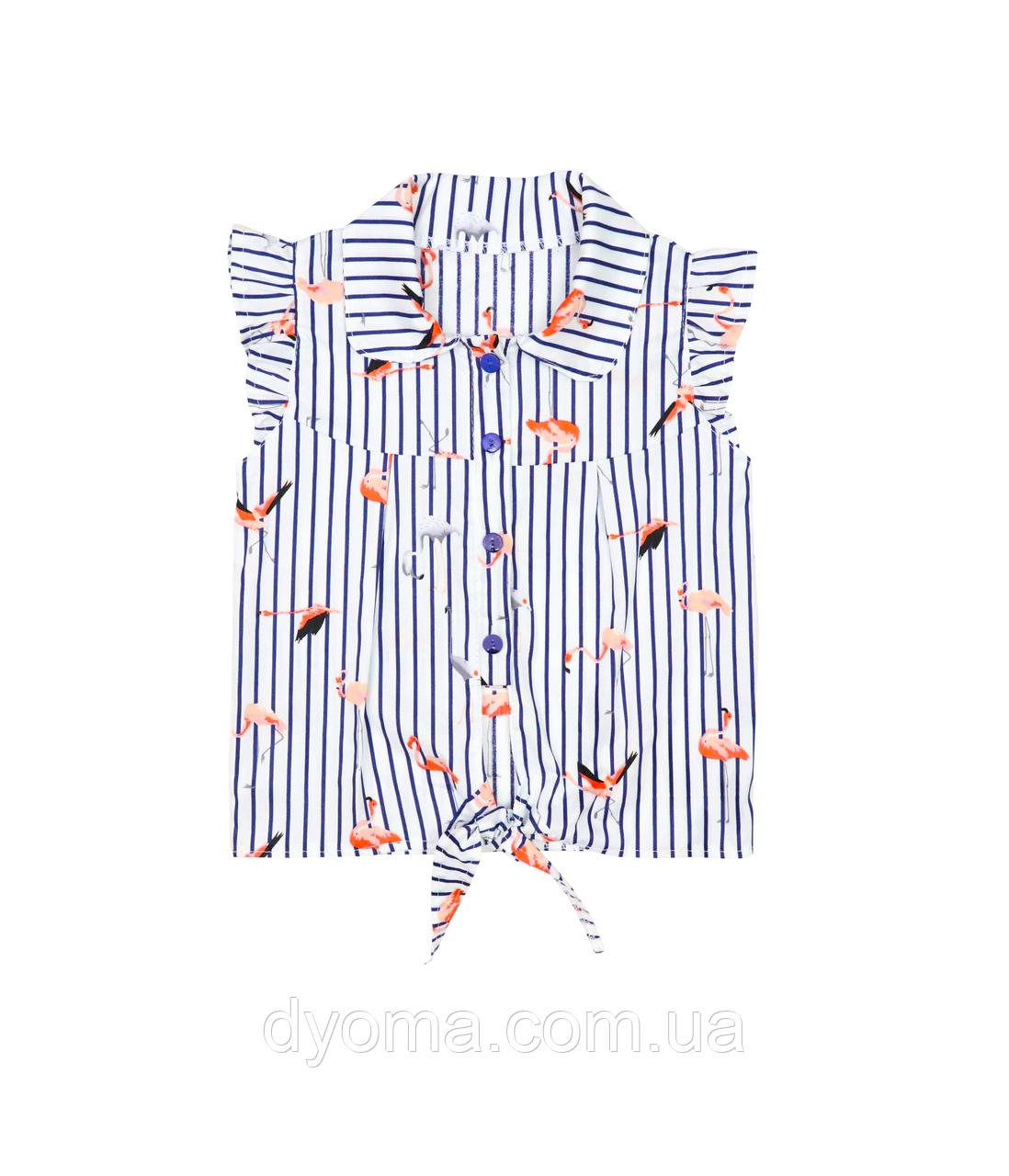 """Детская блуза  """"Фламинго"""" для девочек"""