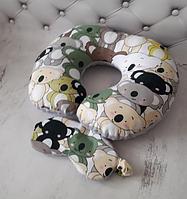 Дорожня подушка та маска для сна., фото 1