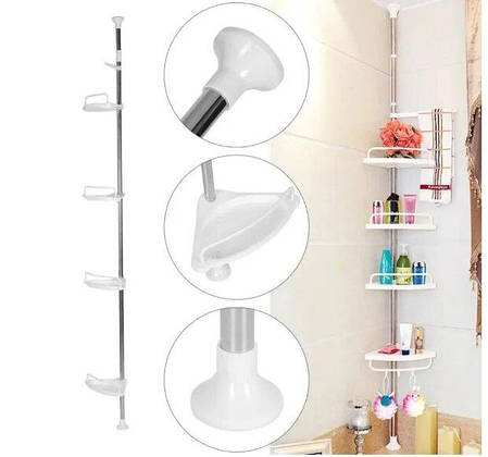 Кутова полиця для ванної Aidesen Multi Corner Shelf, фото 2