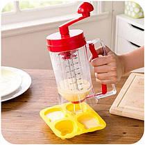 Универсальный ручной миксер с дозатором Pancake Machine, фото 3