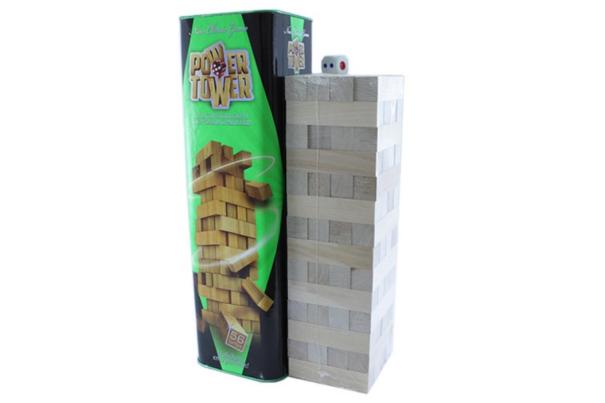 Настольная игра Дженга Башня Jenga Power Tower Джанга PT-01 56 брусков