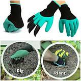 Перчатка с когтями для сада Garden Genie Gloves, фото 3