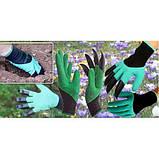 Перчатка с когтями для сада Garden Genie Gloves, фото 5