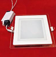 LED-cветильник квадрат Luxel (стекло) 18w 4000K IP20 (DLSG-18N)