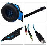 Игровые наушники Kotion Each G2000 с микрофоном и подсветкой Blue, фото 5
