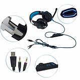 Игровые наушники Kotion Each G2000 с микрофоном и подсветкой Blue, фото 7