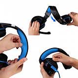 Игровые наушники Kotion Each G2000 с микрофоном и подсветкой Blue, фото 8