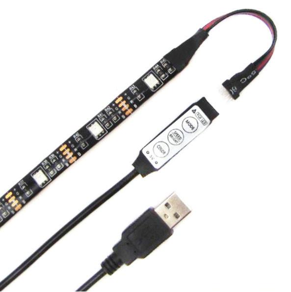 Светодиодная RGB лента с USB и миниконтроллером Feron LS708