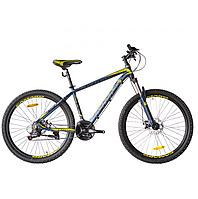 """Велосипед горный CAMARO Blaze 27.5"""" сине-желтый, алюминиевая рама 17"""" 2020г"""