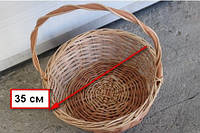 Подарочная корзина  из лозы плетеная диаметр 35 см для корпоративных подарков