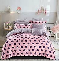 Комплект постельного белья детский Горохи на розовом Kids Elite CottonTwill (сатин)