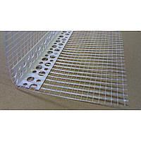 Уголок пластиковый перфорированный с сеткой 10*10 см 3 м