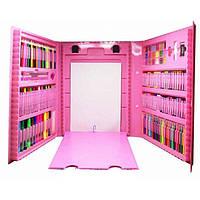Набор художника для творчества 208 предметов Розовый