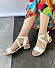 Жіночі босоніжки на підборах MORENTO - білі, екошкіра, натуральна шкіра, літо, фото 2