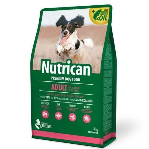 Сухой корм Nutrican Adult для взрослых собак всех пород со вкусом курицы, 3 кг