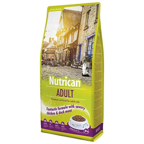 Сухой корм Nutrican Adult Cat для взрослых котов всех пород со вкусом курицы и риса, 10 кг